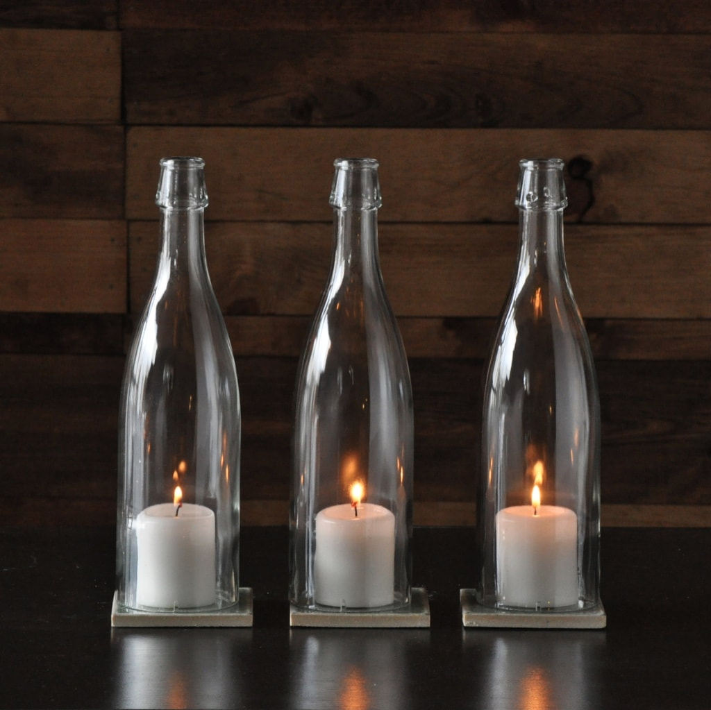 candle hurricane clear wine bottles moonshine lamp company moonshine lamp company. Black Bedroom Furniture Sets. Home Design Ideas