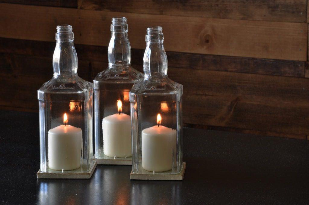 Candle Hurricane Whiskey Bottles Moonshine Lamp Company