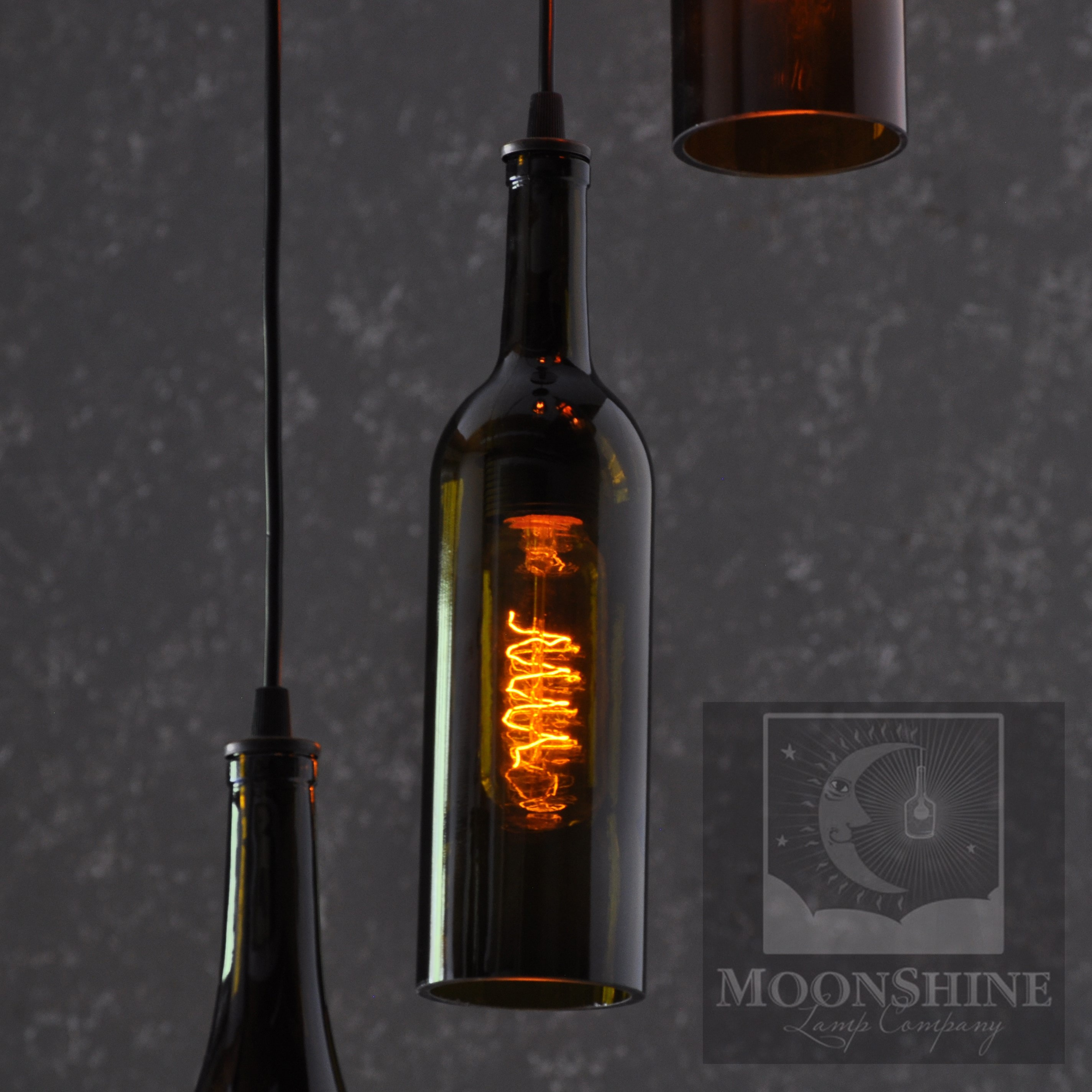 wine lighting. Recycled Wine Bottle 4 Light Pendant Chandelier Lighting :