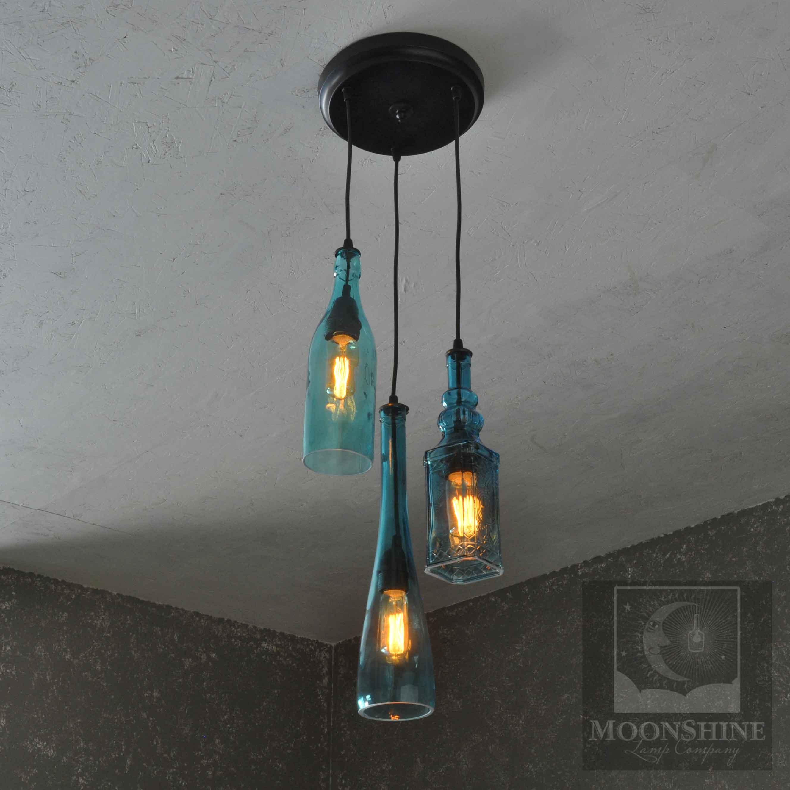 The Harmony 3 Light Chandelier Moonshine Lamp pany
