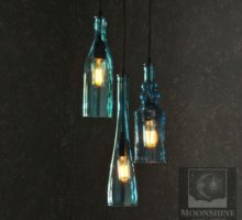 Chandeliers archives moonshine lamp company moonshine lamp company the harmony 3 light recycled bottle chandelier with vintage style edison bulbs aloadofball Gallery