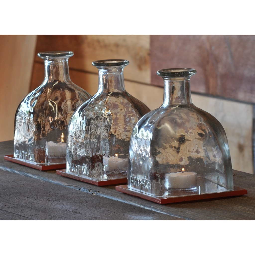 Lamp Com: Candle Centerpieces With Patron Tequila Bottles And