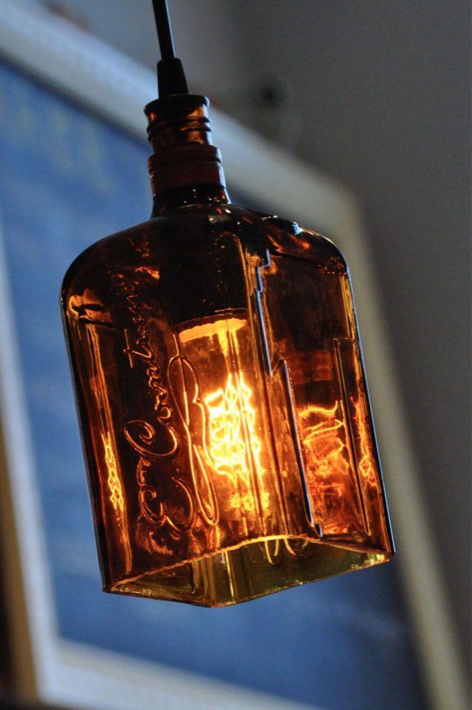 Cointreau Hanging Recycled Bottle Pendant Lamp Moonshine
