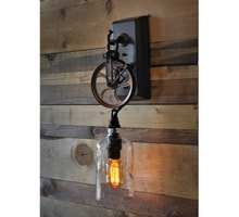best service b09b2 73eef The Industriale Apothecary - Recycled Bottle Pulley Wall Sconce