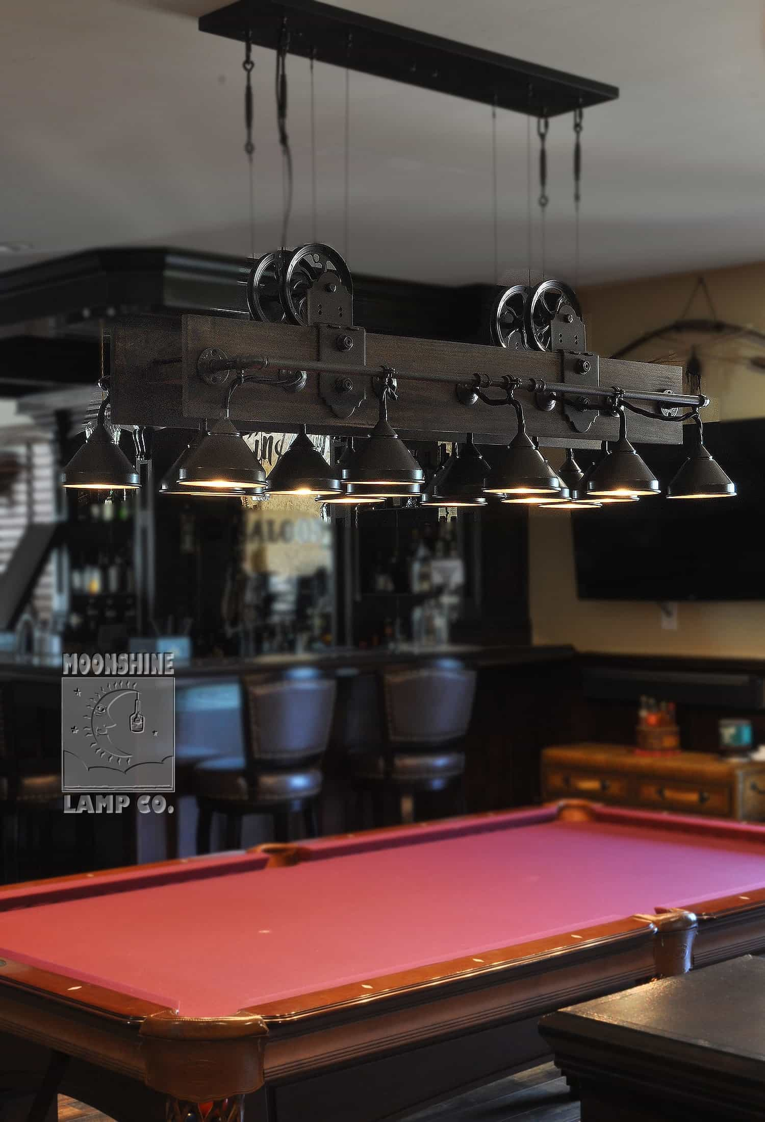 Pool Table Lighting Moonshine Lamp Company