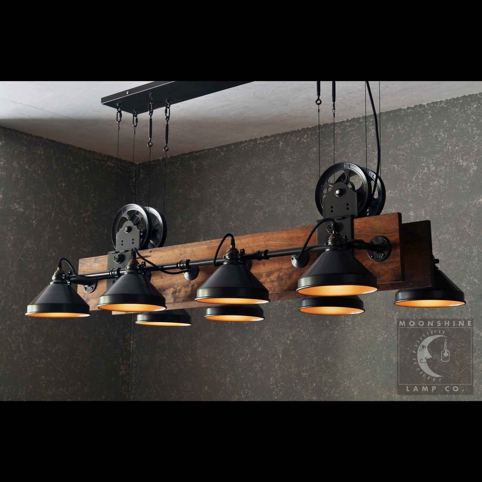 Pool Table Light Black: Unique Handmade Industrial Pool Table