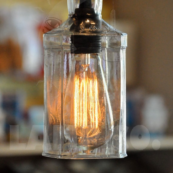Whiskey Bottle Lamp Hanging Pendant Light Fixture With