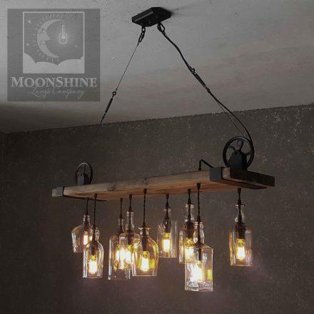 reclaimed wood chandelier rustic modern the chesapeake reclaimed wood chandelier with recycled glass bottles and steel hardware handmade rustic modern lights in claremont california