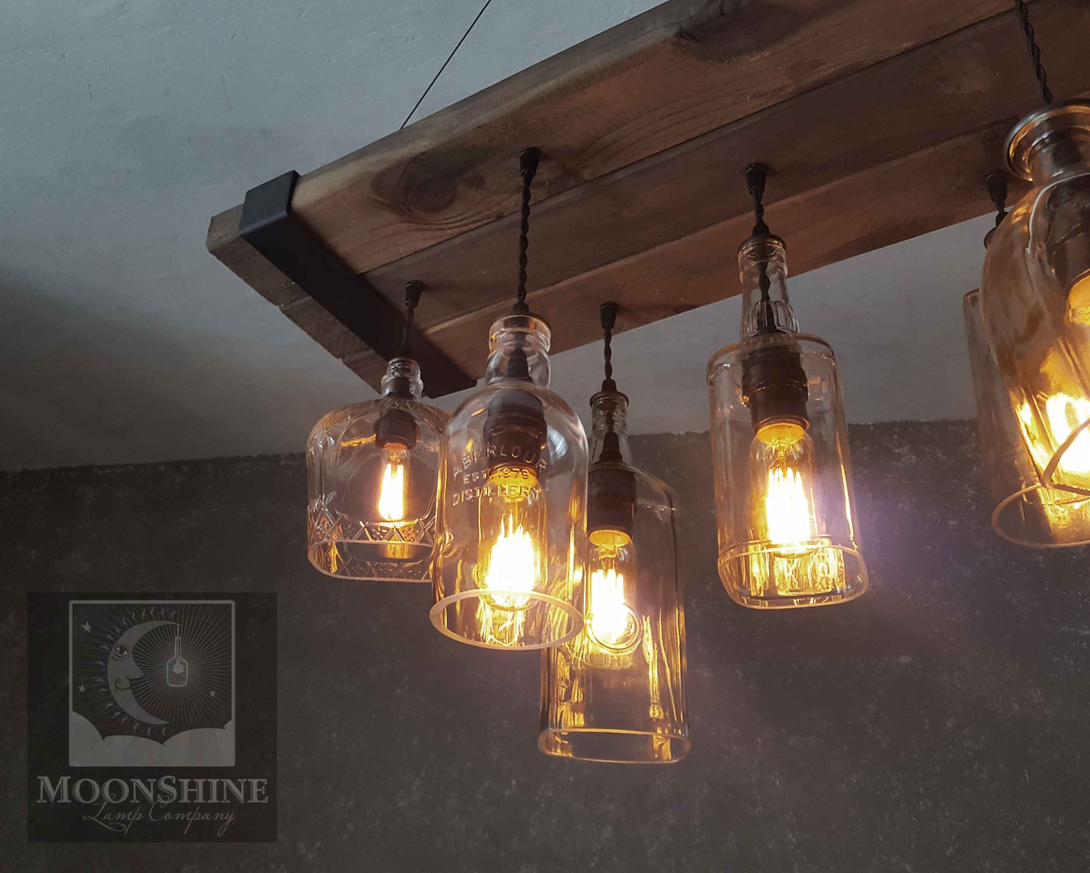 The Chesapeake u2013 Reclaimed Wood Bottle Chandelier & The Chesapeake Reclaimed Wood Chandelier Made From Recycled Bottles ...