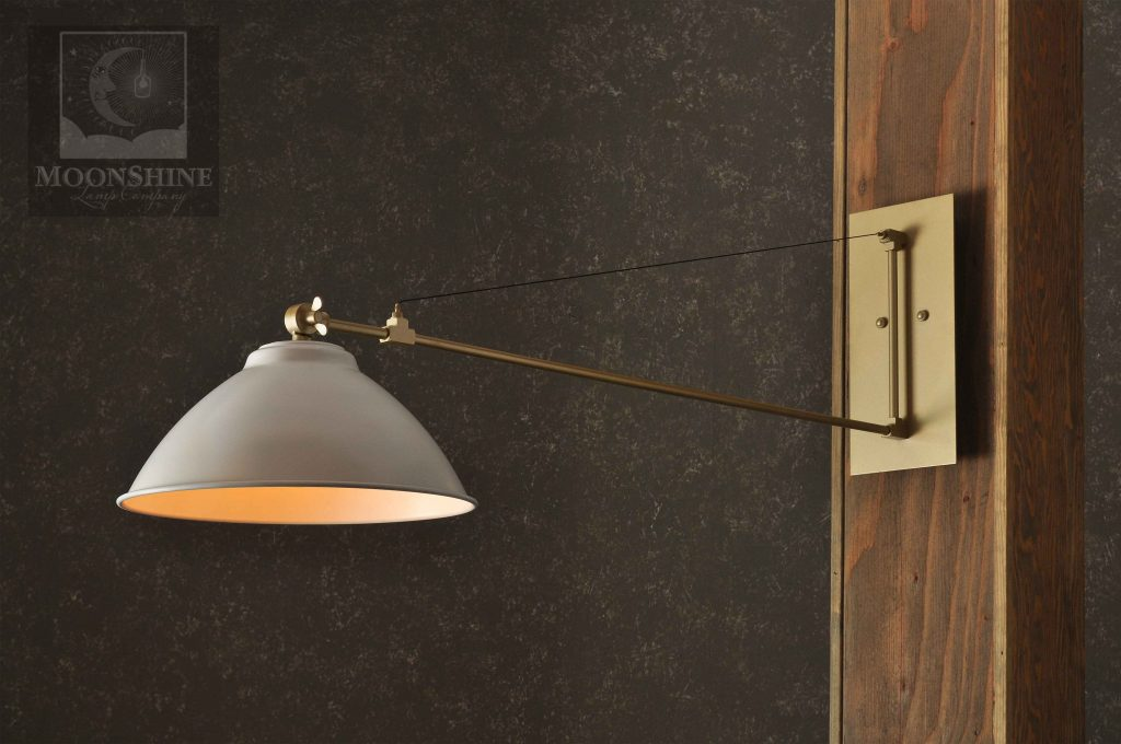 The Aer Modern Wall Sconce Light With Customizable Metal Finishes