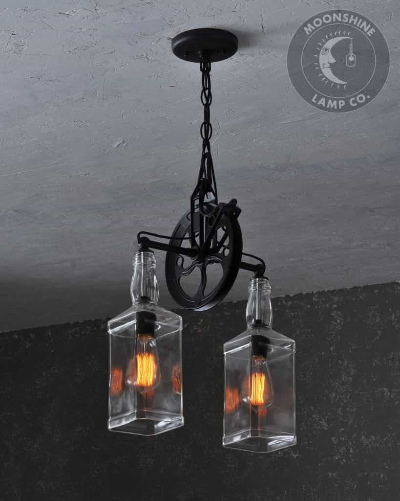 Pendant Pulley Wheel Light Fixture By Moonshine Lamp Co Moonshine Lamp Company